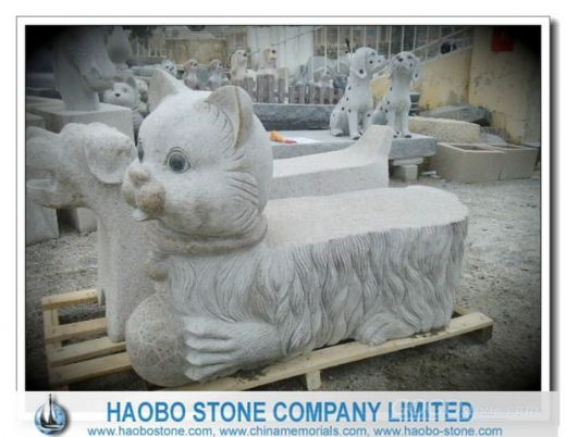 Animal Carved G682 Granite Bench