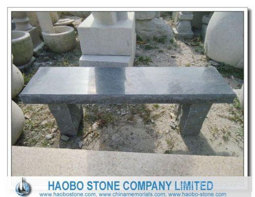 Granite G654 Dark Grey Garden Long Bench