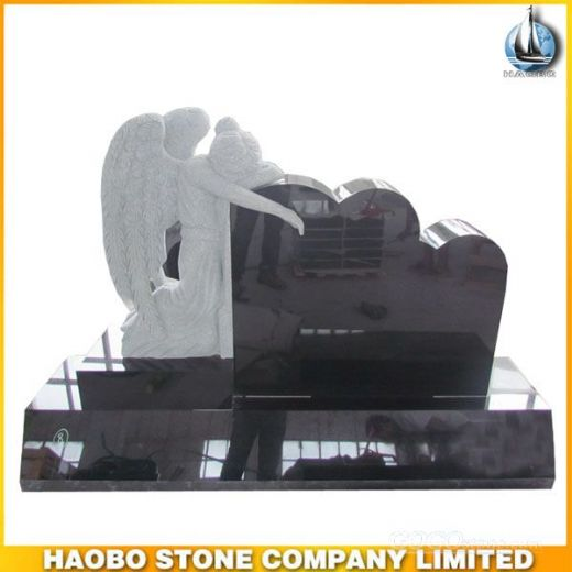 Granite Shanxi Black Angel Headstone