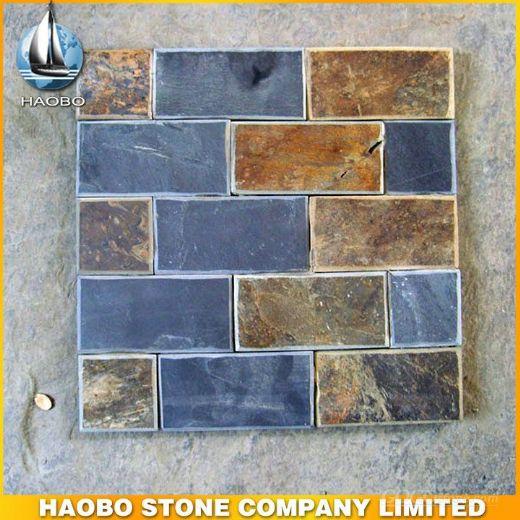 Slate Tiles Wall Stone Veneer, Slate Tile Stone Wall Cladding
