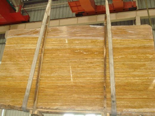 Golden Travertine,Turkey Yellow Travertine-
