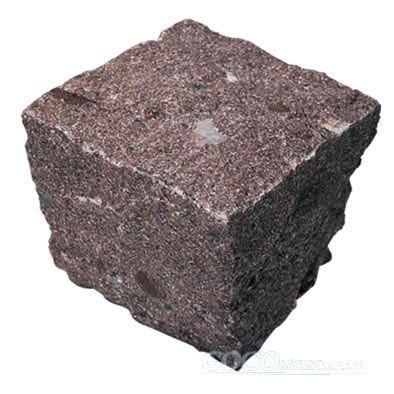 Red Granite Cube Stone