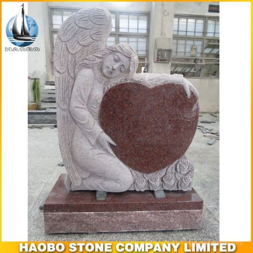 Granite India Red Angel Tombstone