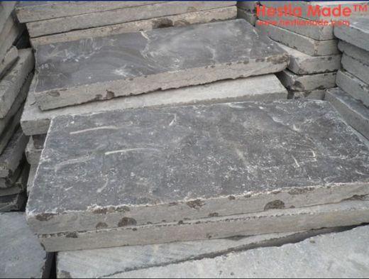 Blue Limestone Tumbled Pavers Outside pavement