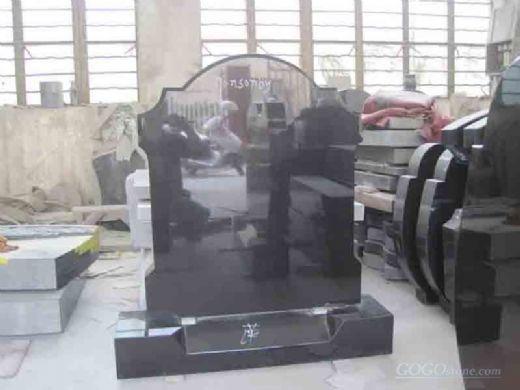 Irish style Shanxi black headstone