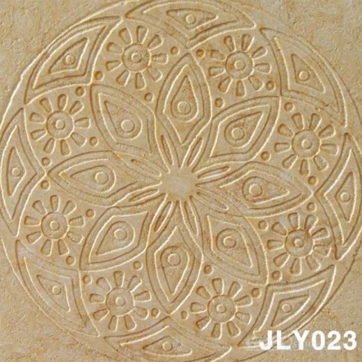 3D CNC Golden Marble Carving Panel