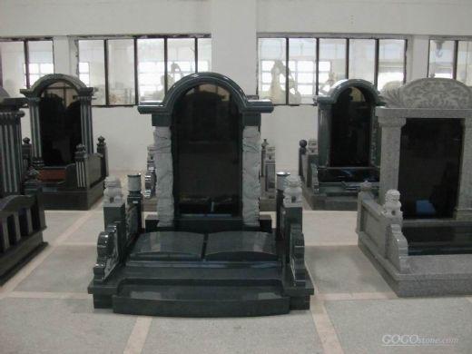 cheap korean style black granite monument