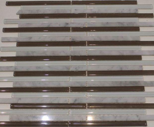 Carrara White,Glass Mosaic