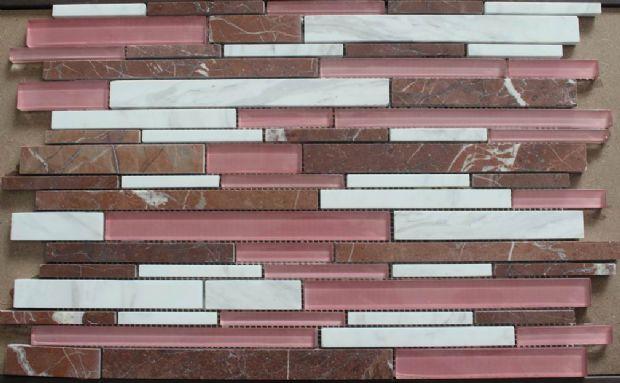 Rosso Levanto,Glass Mosaic