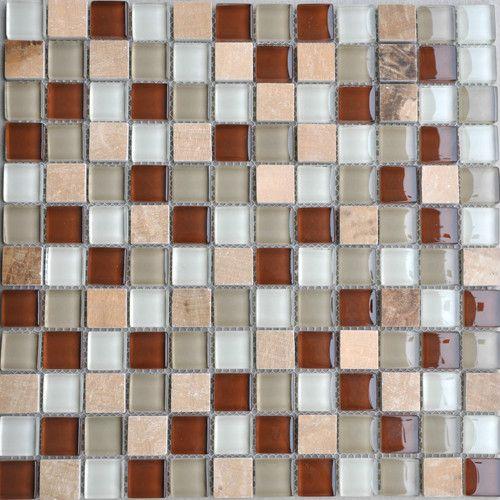 Wooden Yellow,Glass Mosaic