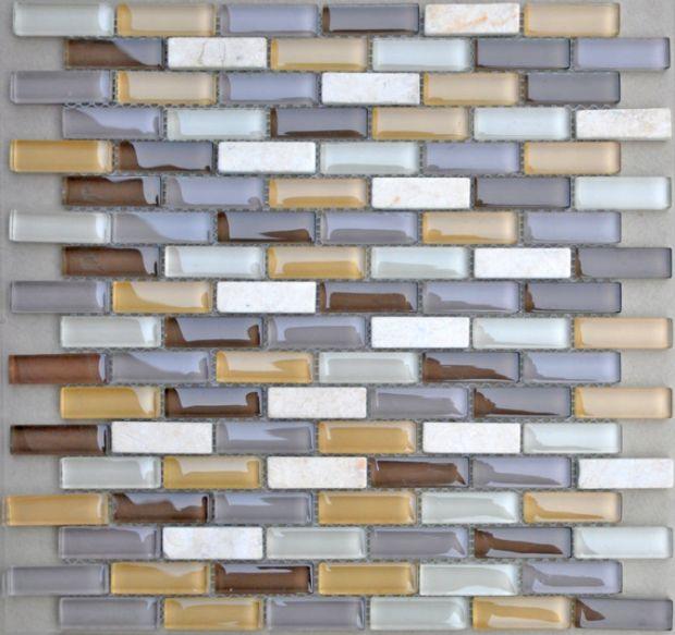 Cream Marfil,Glass Mosaic