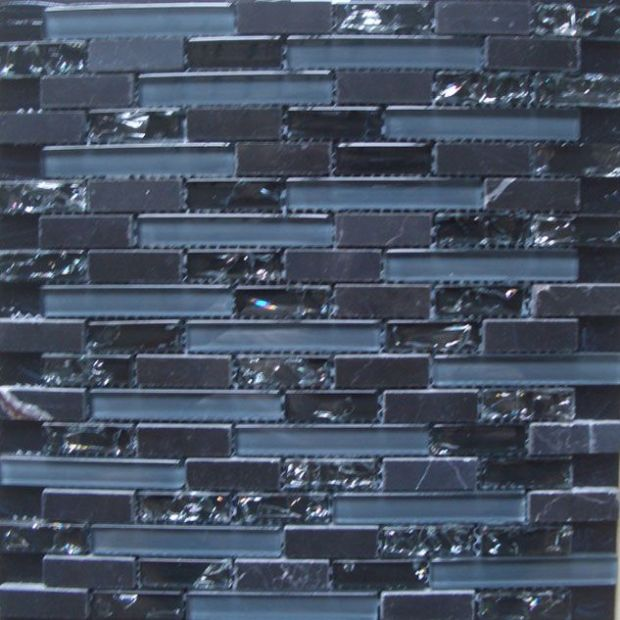 Black Marquina,Glass Mosaic