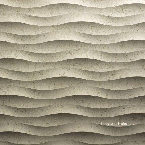 3d wavy stone decorative wall panels