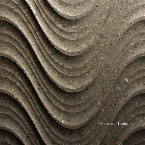 3d decorative wavy stone internal wall panels