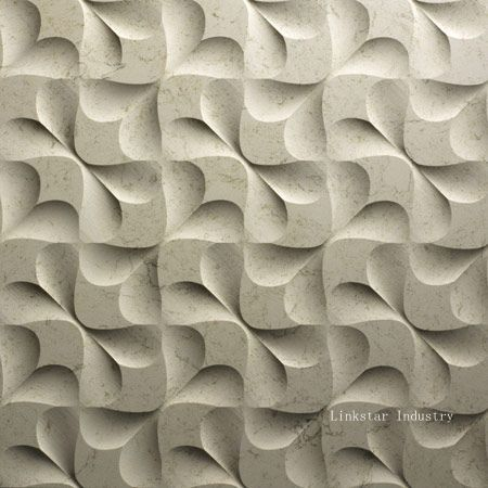 3d cnc feture indoor stone wall tile