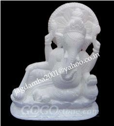 Indian Hand Crafted Art Lord ganesha White marble