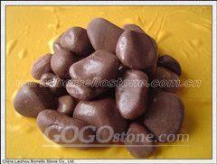Brown pebble,pebblestone,cobble,cobblestone