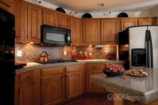 Charming Beige Countertop for Kitchen