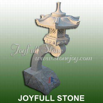 Japanese garden stone lantern