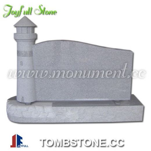 Granite lighthouse tombstone and monuments