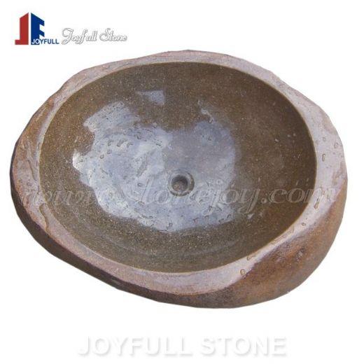 River stone basins boulder stone bowls