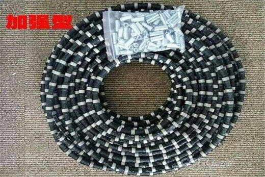 High quality stone diamond wire saw mine rope saw beads for marble concrete and granite cutting