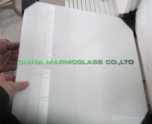 Crystallized White Glass Tile