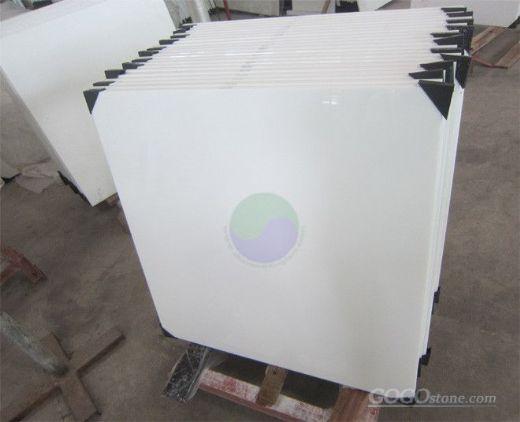 White Crystallized Glass, White crystallized glass tile