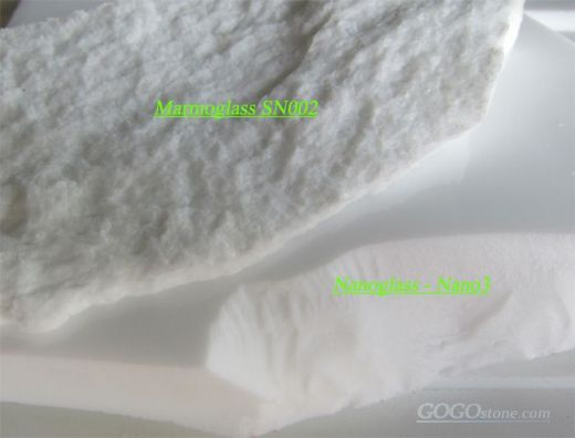 Nero Paris / Crystalized Glass- Pure White Marble