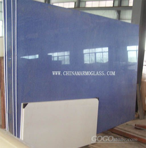 Blue Color Marmoglass from China