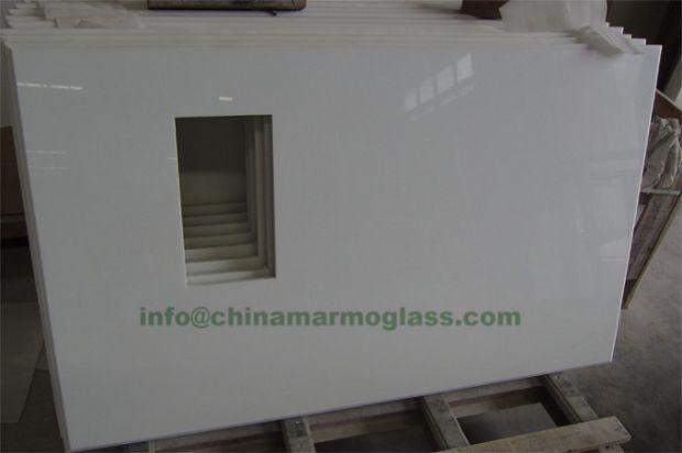 White Nanoglass Kitchen Countertops
