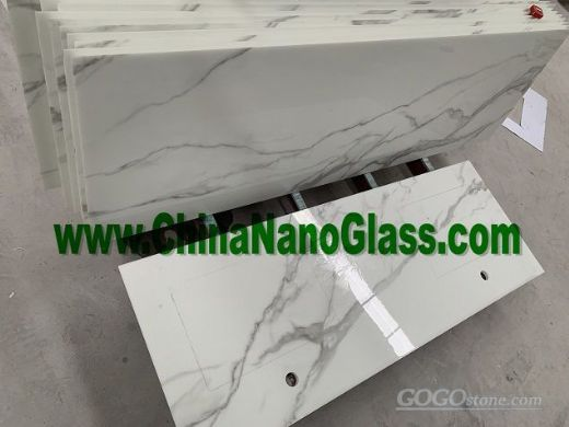 Calacatta Gold Crystallized Nano Glass Countertops