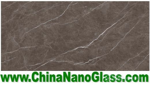 Marble-look Calacatta nano glass Slab