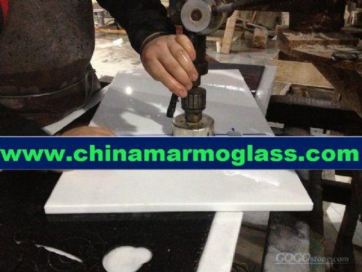 Pure White Nanoglass Countertops