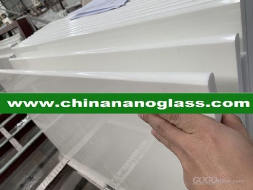 White Nano Crystallized Glass Slab