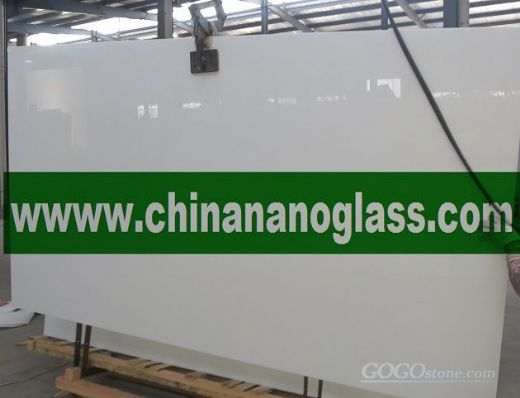 White Nanoglass Crystallized Glass