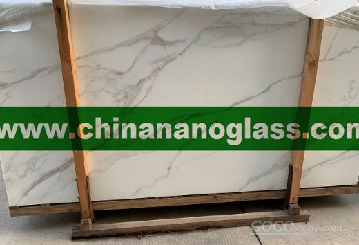 Nano Glass Crystallized White Carrara Marble