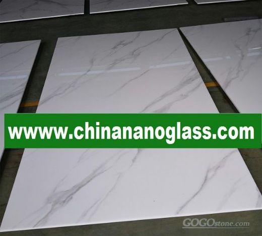Calacatta Gold Nano Crystallized Glass Stone Slabs