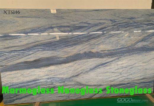 Azul Macaubas Nano Glass Marble Effect Large Slabs