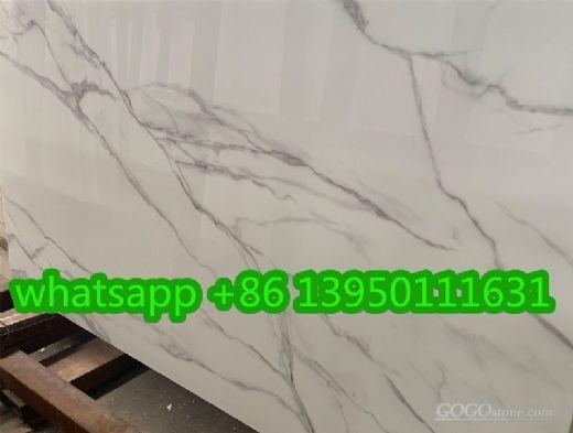 nano calacatta glass slabs