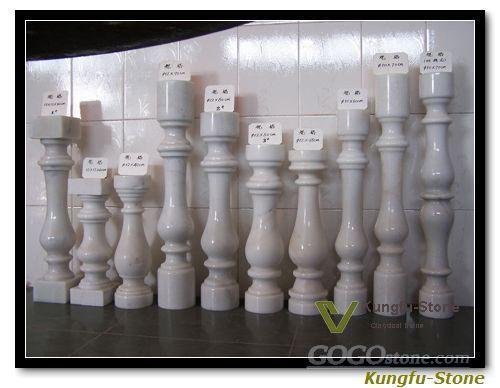 white marble railing