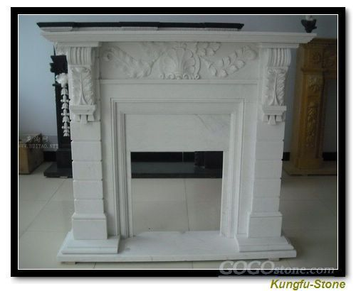 To sell White Marble Fireplace Mental