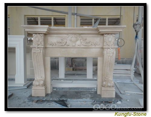 Light Beige Fireplace