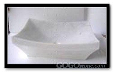 marble Bianco china sink
