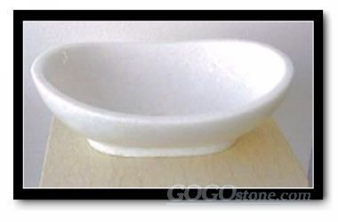 Crystal White Marble sink