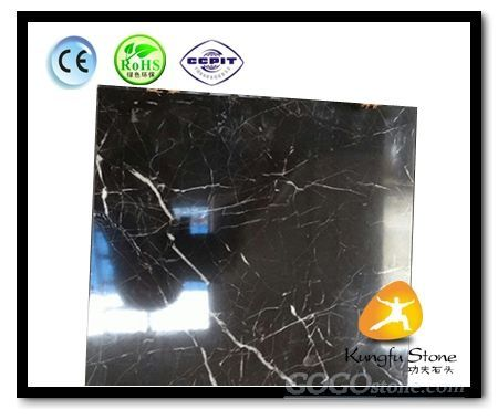 Hotel Black Marquina Marble Tile