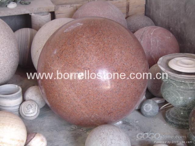 stone ball, marble ball, granite ball