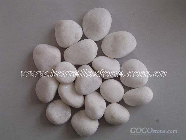 pure white Pebble,snow white Pebble, white cobble