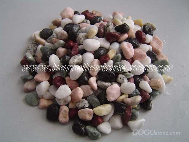 mixed color pebble