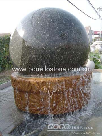 sphere fountain, floating ball fountain, garden fountains